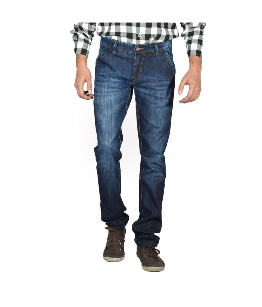 Focker Dark Blue Cross Pocket Slim Fit Jeans