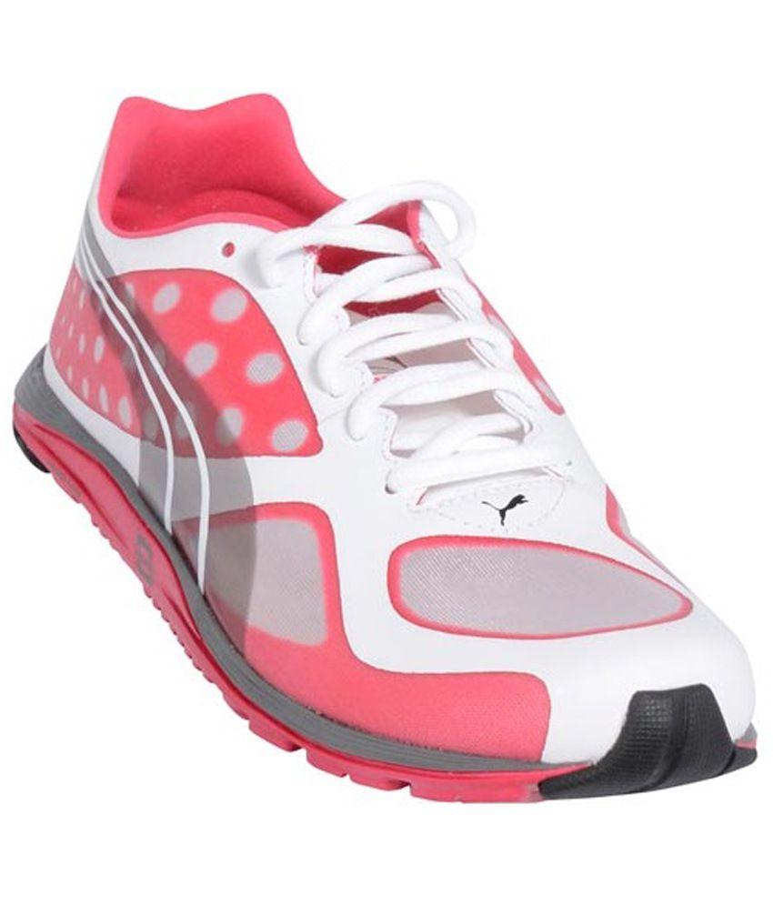 PUMA Faas 100R Women White Pink Silver Sport Shoes Price in India- Buy PUMA  Faas 100R Women White Pink Silver Sport Shoes Online at Snapdeal c46c51436