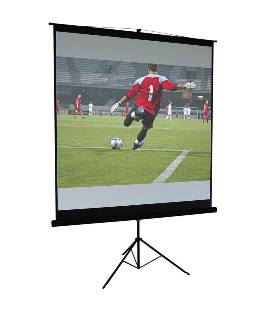3e7bf82307568d Buy CineView Tripod Type Projector Screen Size: - 106 Inches Diagoanl(16:9  Format) In Imported High Gain Fabric, 8 Ft. x 4.5 ft. Online at Best Price  in ...