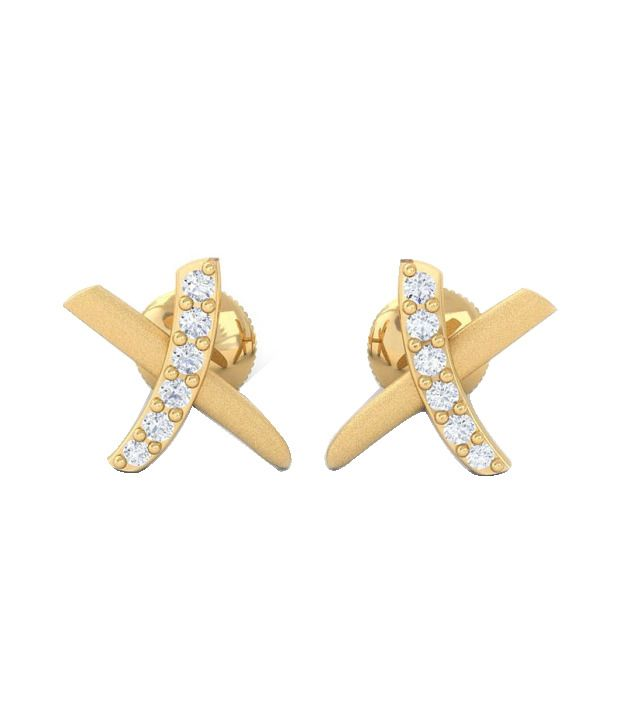 Kreeli 18k Yellow Gold Right Diamond Earrings With D-f Vvs1 Diamond Quality