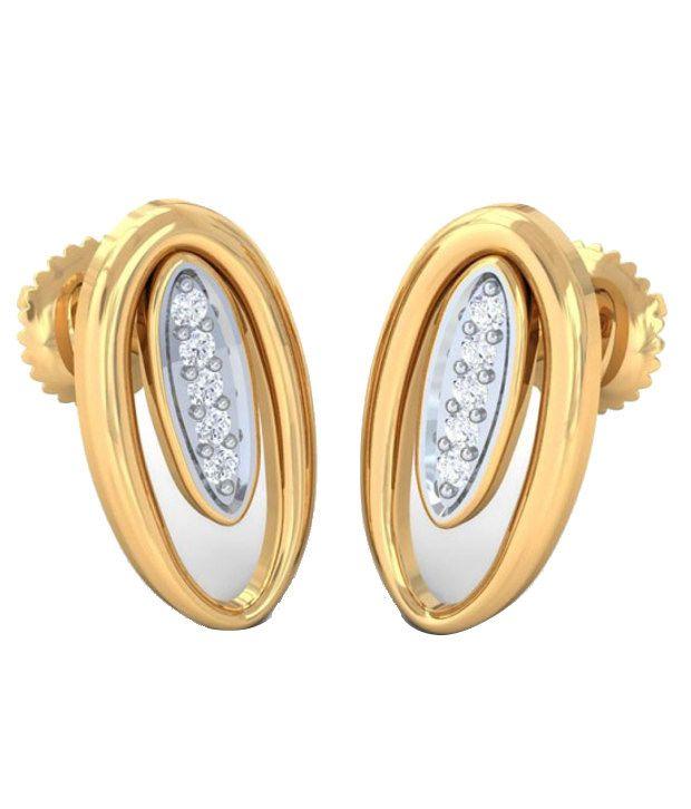 Kreeli 22k Yellow Gold Daisy Diamond Earrings With D-f Vs1 Diamond Quality