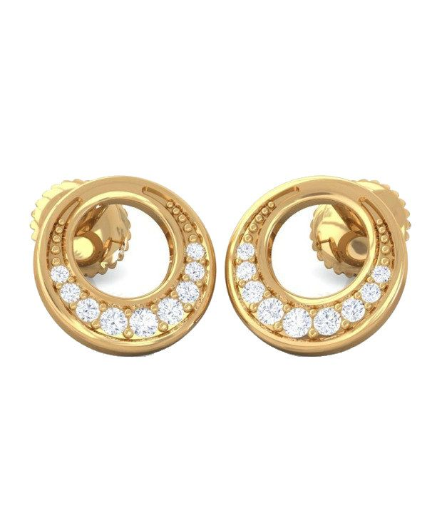 Kreeli 22k Yellow Gold Fiona Diamond Earrings With D-f Vs2 Diamond Quality