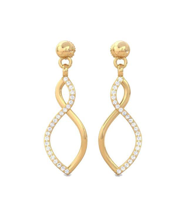 Kreeli 22k Yellow Gold Halona Diamond Earrings With D-f Vvs2 Diamond Quality