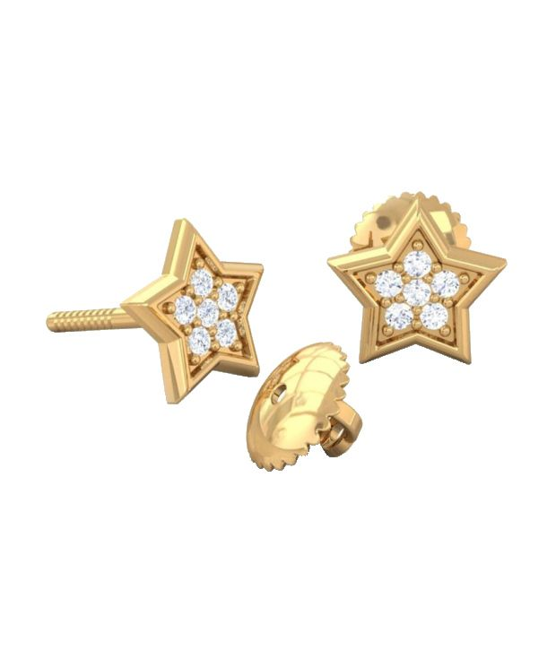 Kreeli 22k Yellow Gold Sitara Diamond Earrings With D-f Vs1 Diamond Quality