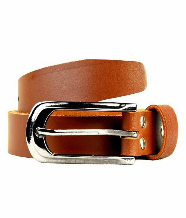 Scharf Brown Leather Formal Belt For Men