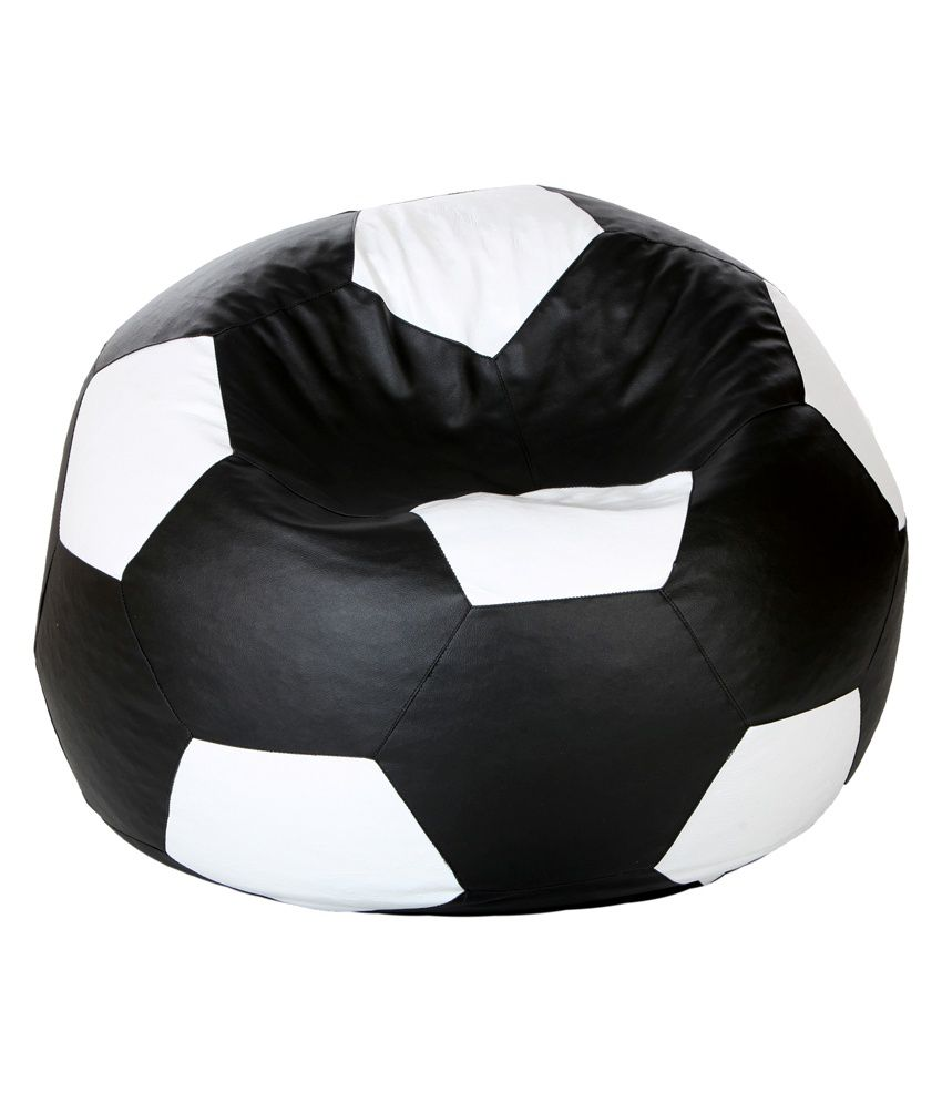 Gie Bean Bag Football Shape Xl Size Black And White Filled