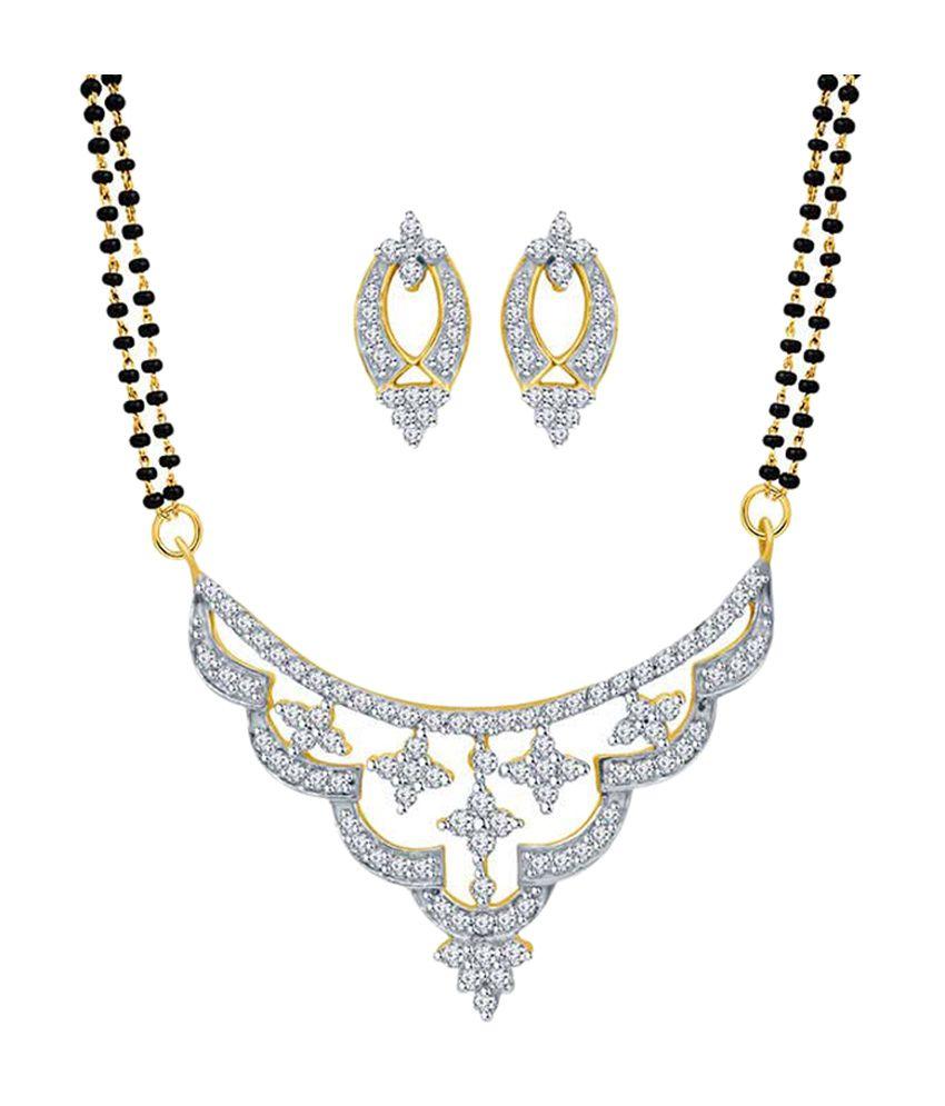 Eldora Silver & Black Designer Alloy Tanmaniya Mangalsutra Set