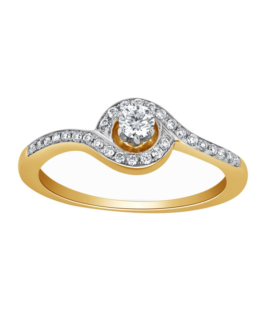 Kama Jewellery Osana Solitaire 18kt Gold Ring