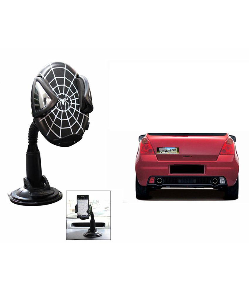 Quirky car bumper sticker wanderer speedwav spider mobile for Quirky interior accessories