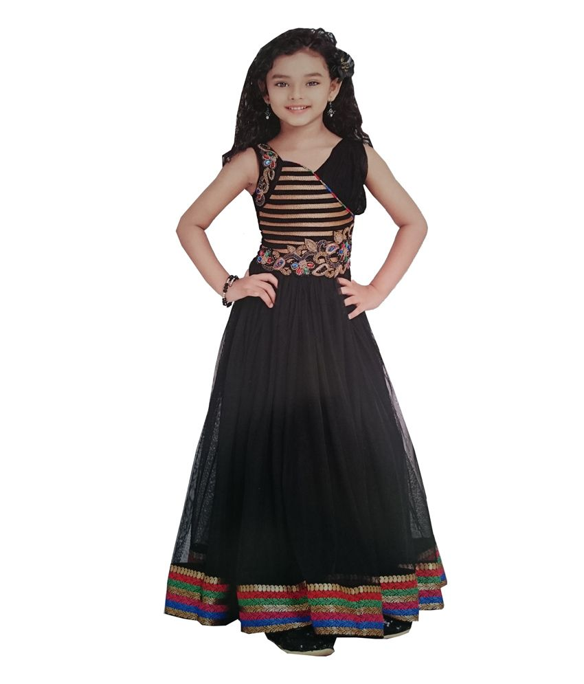 c0aff07bbde Child Club Black Party Wear Gown - Buy Child Club Black Party Wear Gown  Online at Low Price - Snapdeal