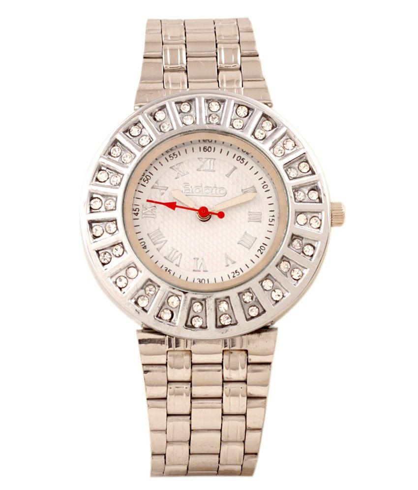 Wrist watch on discount - Fidato Silver Wrist Watch For Women