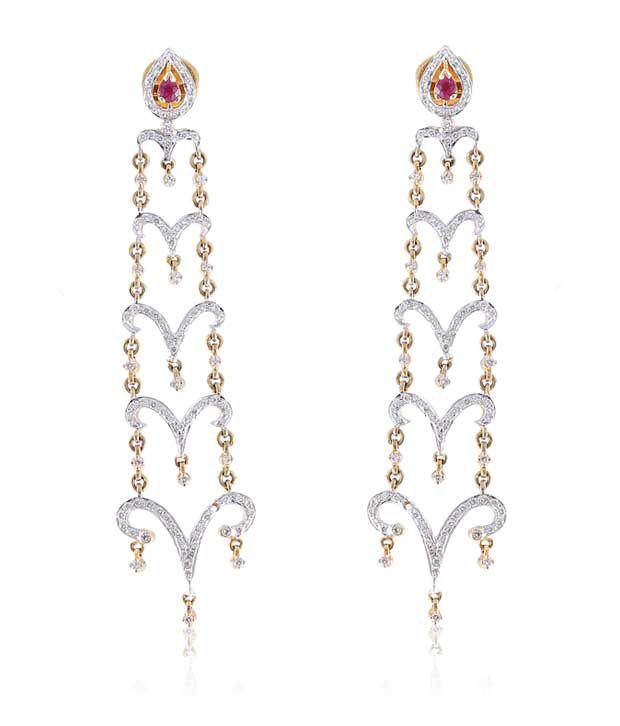 Jisha Gold Heart 18kt Earrings