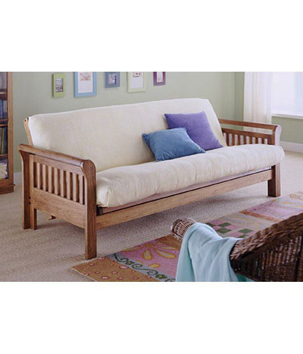 lifeestyle mango wood sofa with cushion and covers buy rh snapdeal com