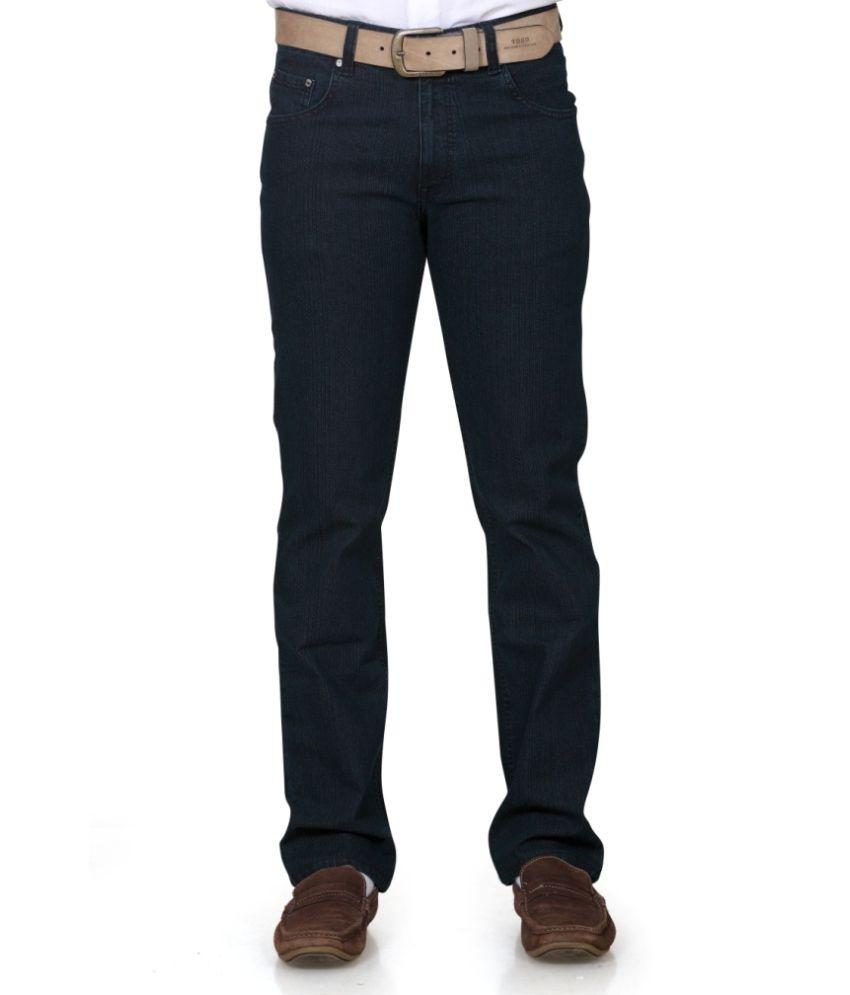 Ntiq Clothing Green Cotton Blend Regular Jeans
