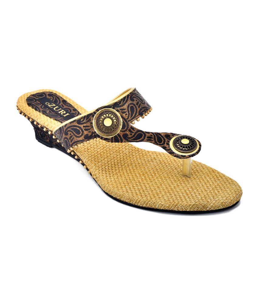 Ozuri Black Satin Comfort Wedge Women Footwear
