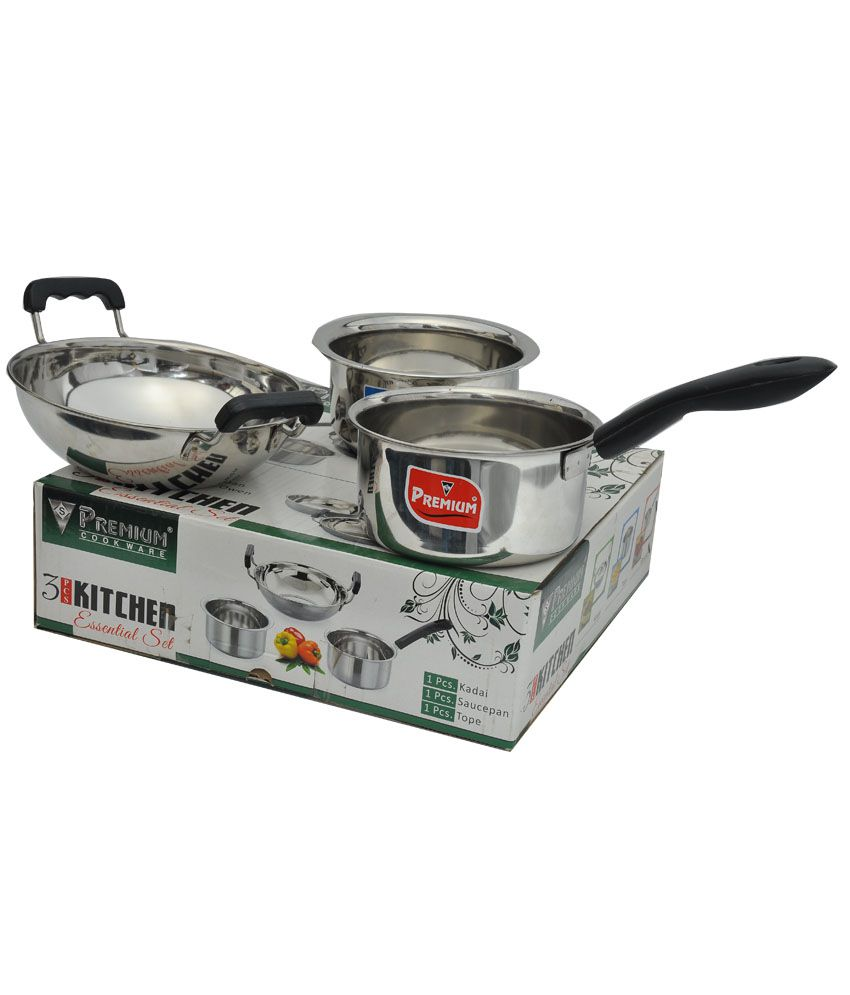 Premium ss 3pcs kitchen sets for Snapdeal products home kitchen decorations