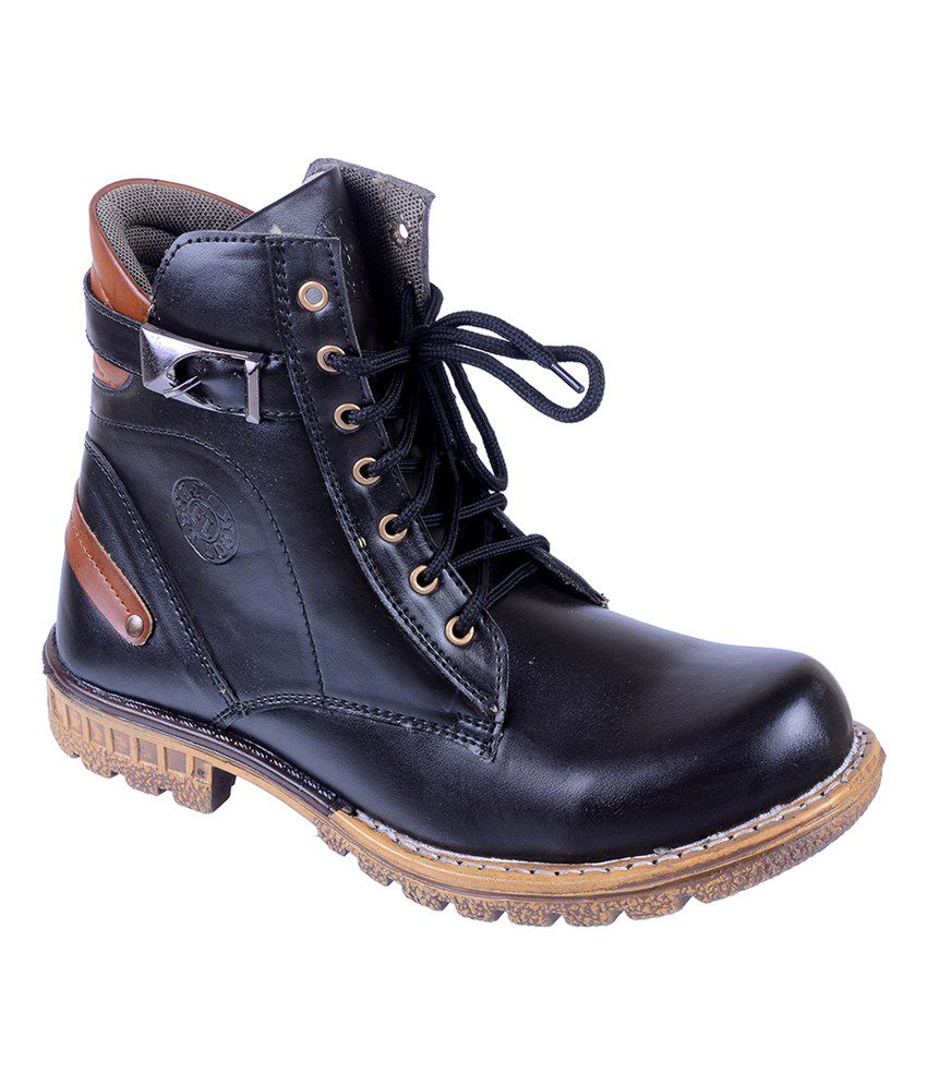Twyst Black Suede Leather Daily Wear Boots