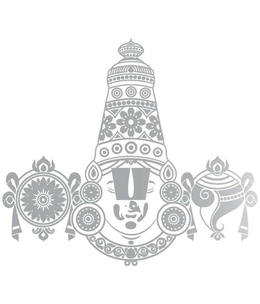 Car sticker design online india - Walldesign Tirupati Balaji Car Sticker
