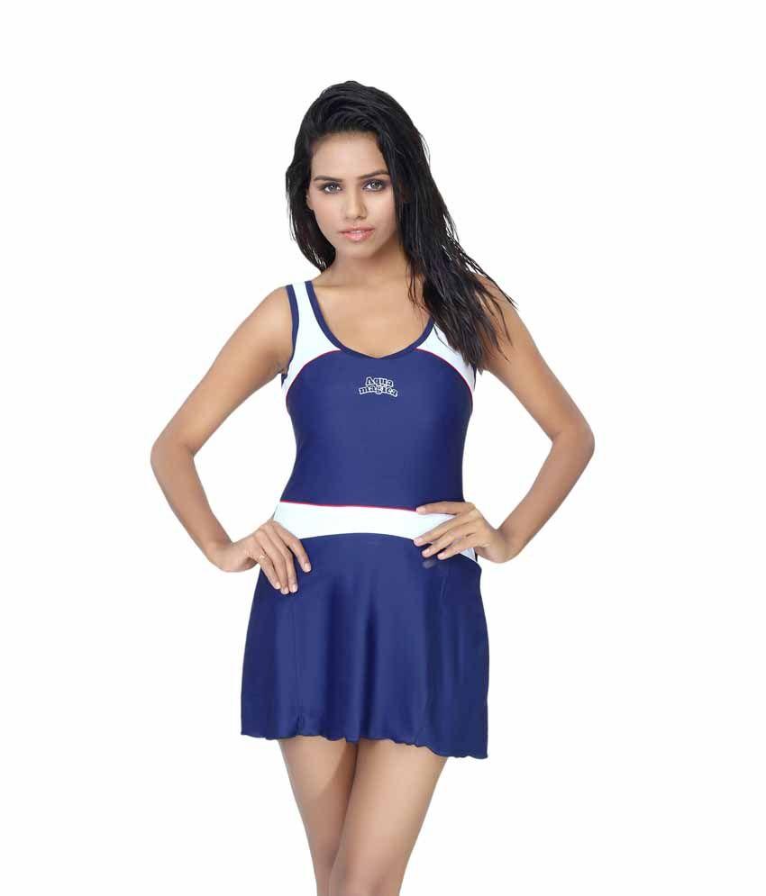 Aquamagica Women Scoop Neck Sleeveless Swimsuit/ Swimming Costume