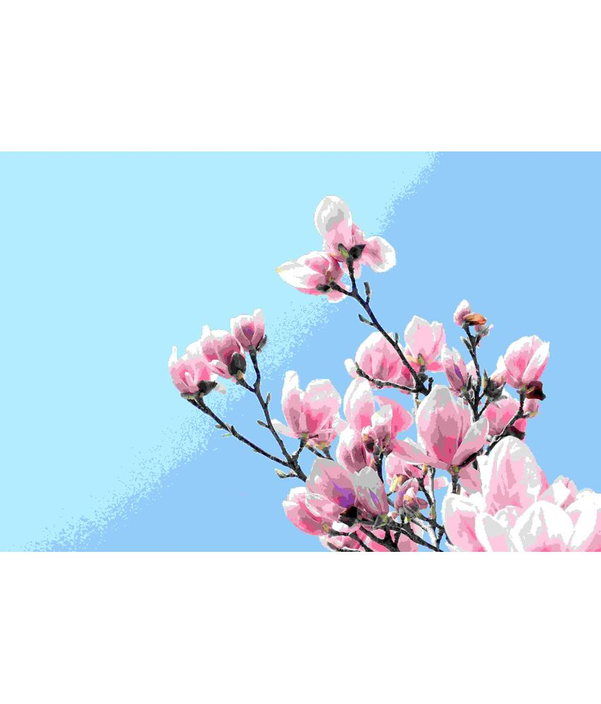 Elite Collection Digitally Printed Frameless Floral Canvas Painting