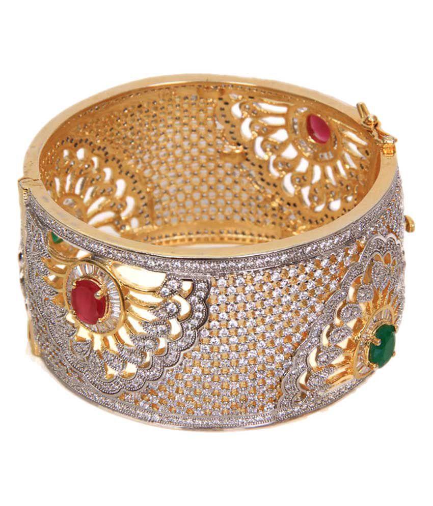 Jack Jewels Gold Bridal Colourful Kada