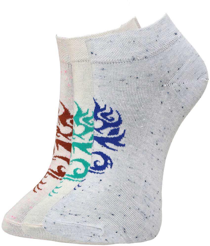 Marc Women's Computer Cotton Spandex Anklet Socks - 3 Pair Pack