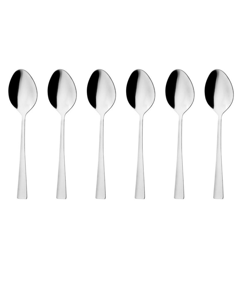 Mosaic Pure Silver Tea Spoon Set Of 12 Buy Online At Best Price In