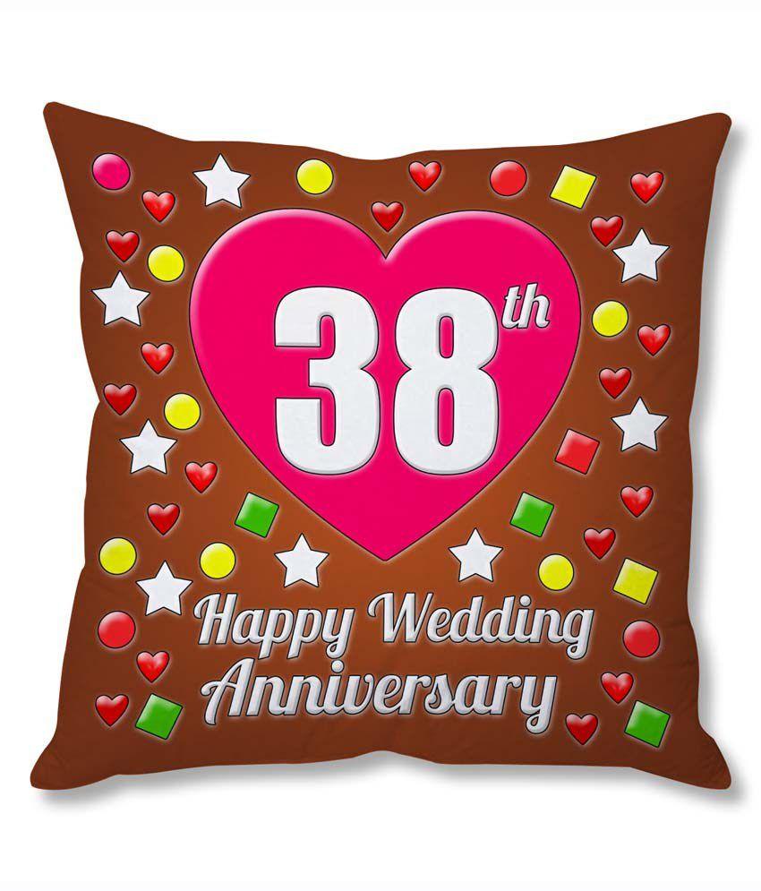 38 Year Wedding Anniversary Gift: Photogiftsindia 38th Wedding Anniversary Cushion Cover