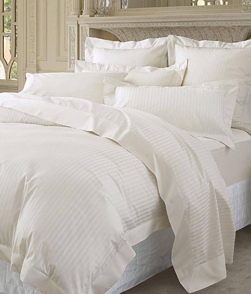 Pima cotton duvet cover 250 thread count stripe king size for Pima cotton comforter