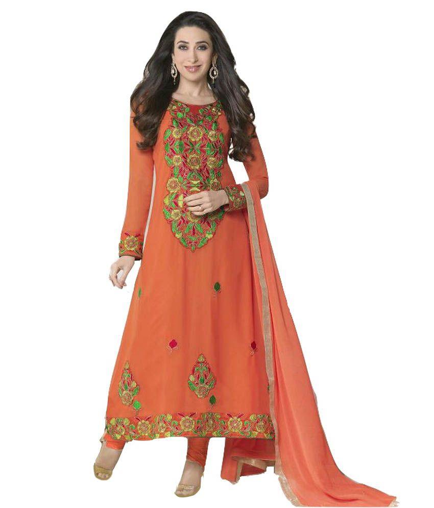 Aneja Brothers Faux Georgette Karishma Kapoor Salwar Suit