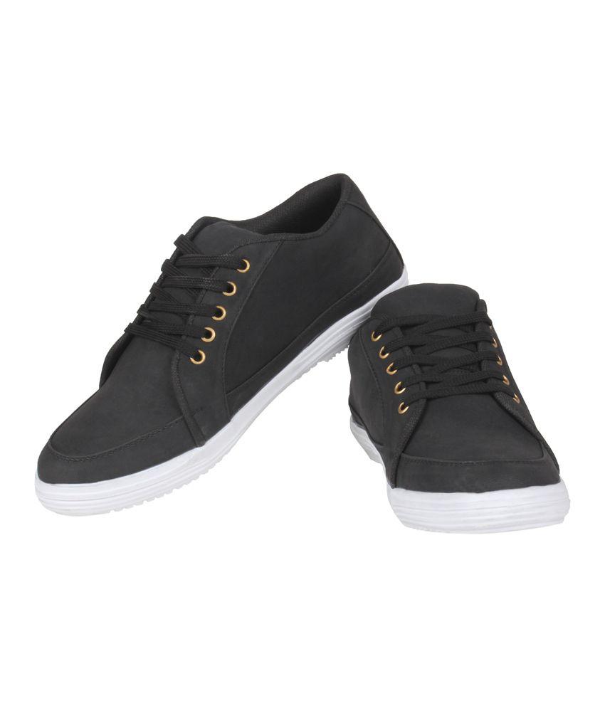 Kraasa Black Canvas Men's Casual Shoes - Buy Kraasa Black ...