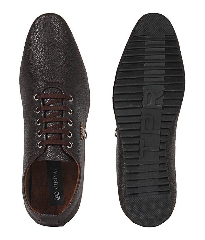 2f22e92732b060 Kraasa Brown Faux Leather Men s Casual Shoes - Buy Kraasa Brown Faux ...