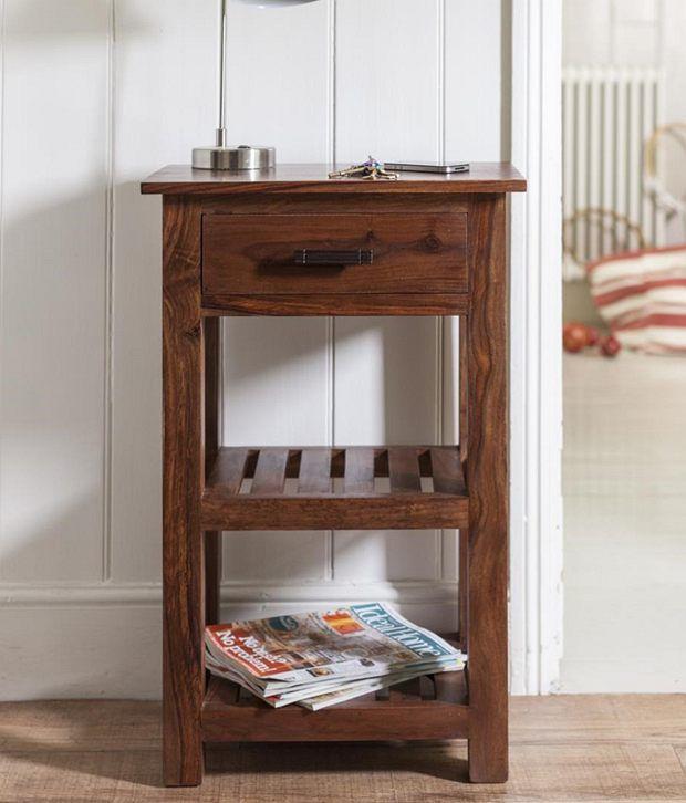 037c9d760f5 Lifeestyle Sheesham Wood Sidetable telephone Table bedside Cabinet ...