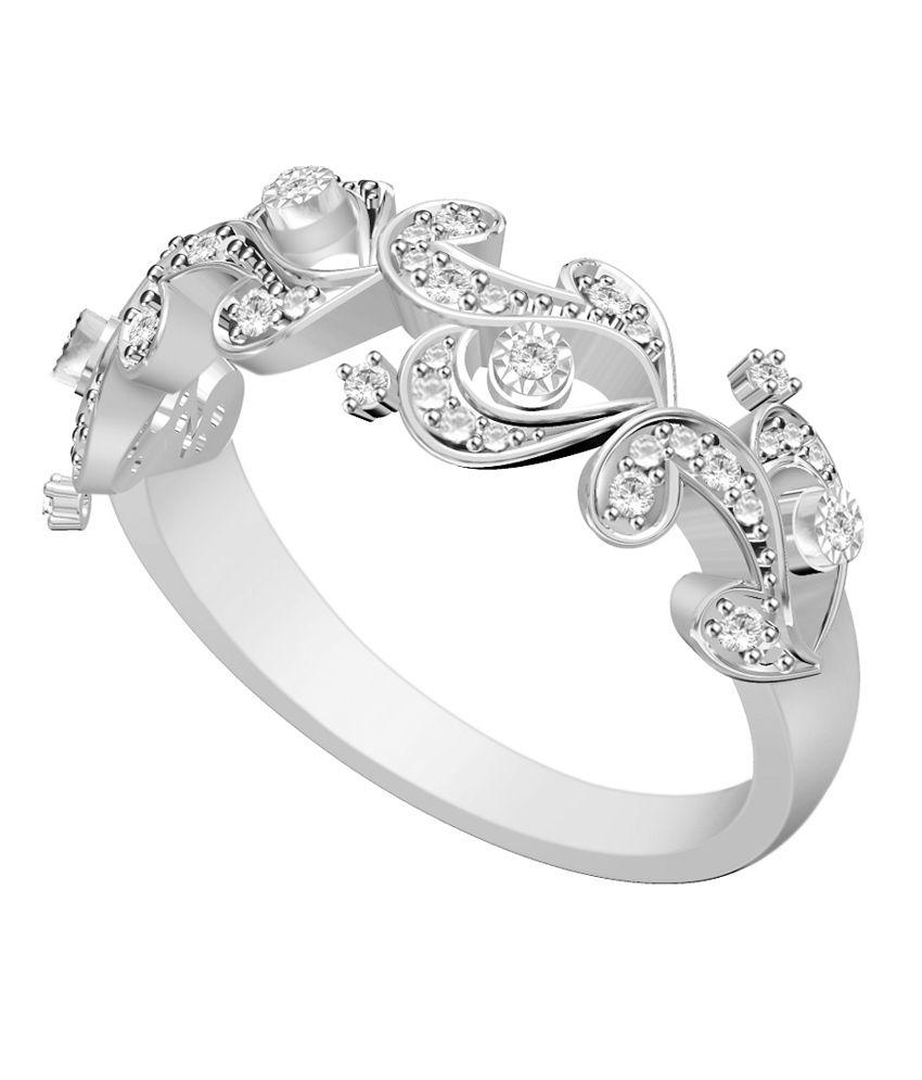 vivre jewels white german silver wedding band ring buy