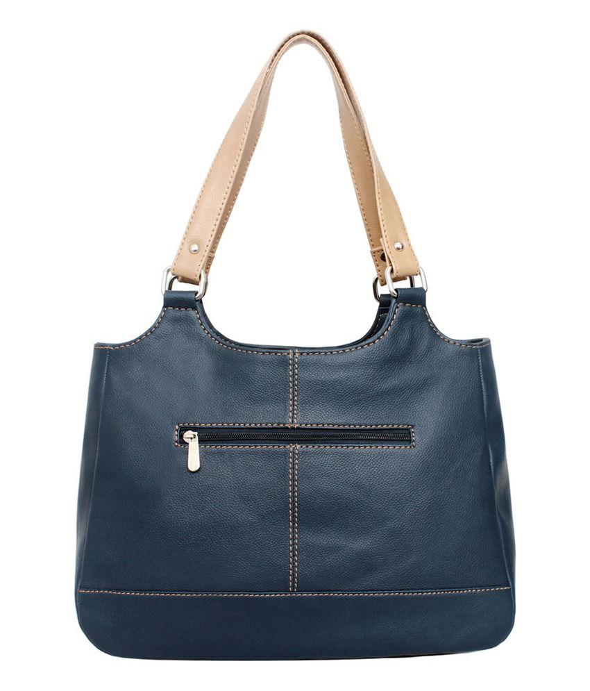 La Volsa Blue P.u. Nouveau Navy Shoulder Bags