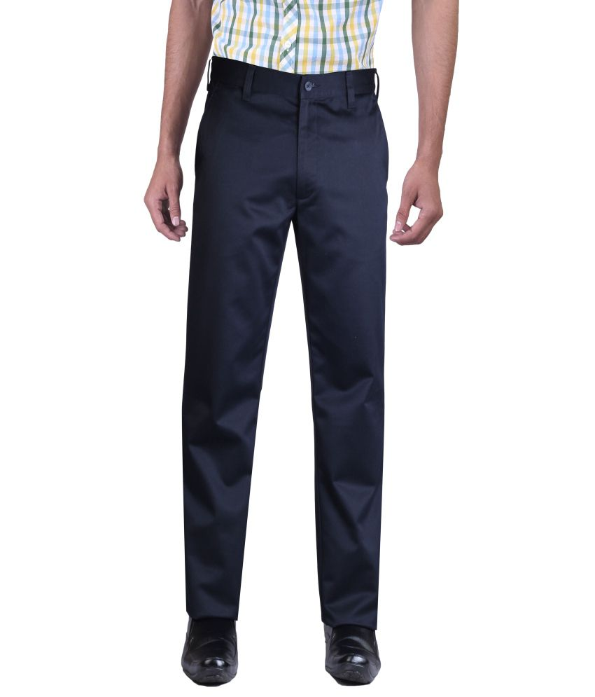 Newyorker Cotton Lycra Trouser For Men