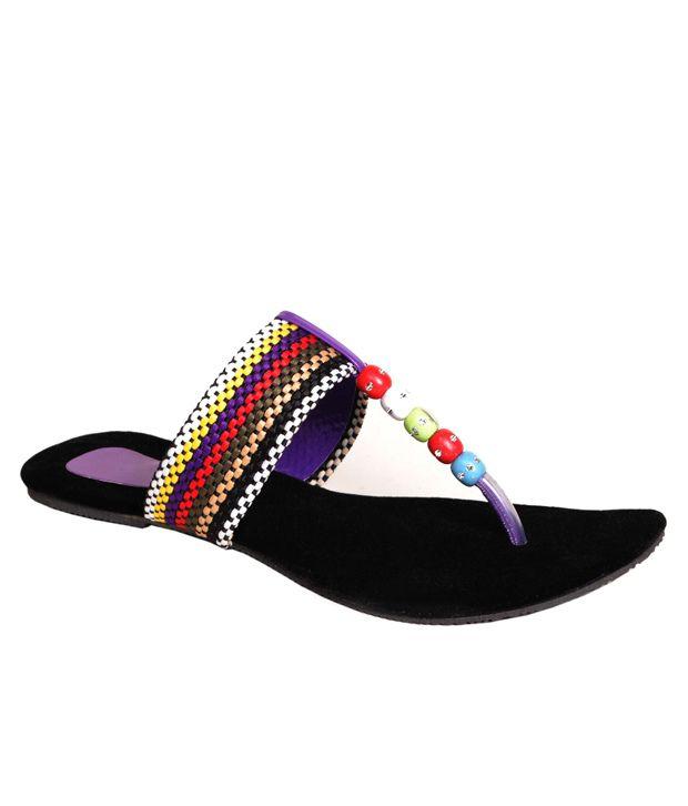 Potente Purple Comfort Daily Wear Flats