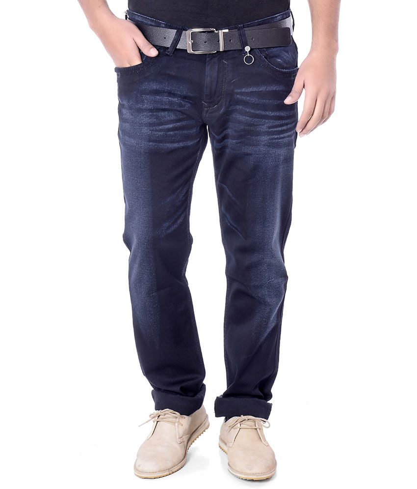 Unison Blue Cotton Slimfit Jeans