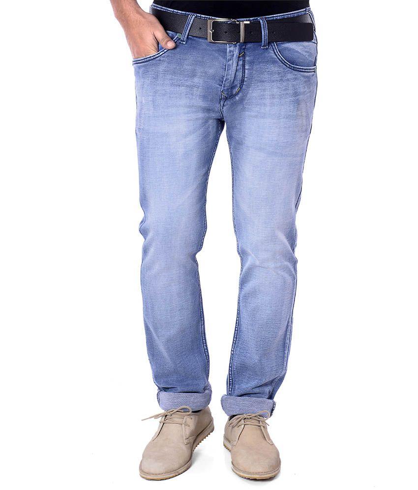 Unison Dark Blue Stretchable Slim Fit Men's Denim Jeans