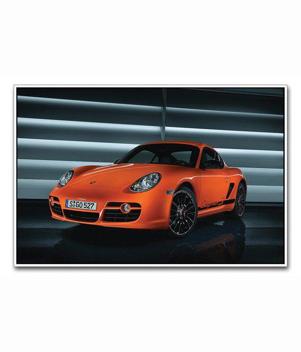 Porsche Cayman: Artifa Glossy Porsche Cayman Poster: Buy Artifa Glossy