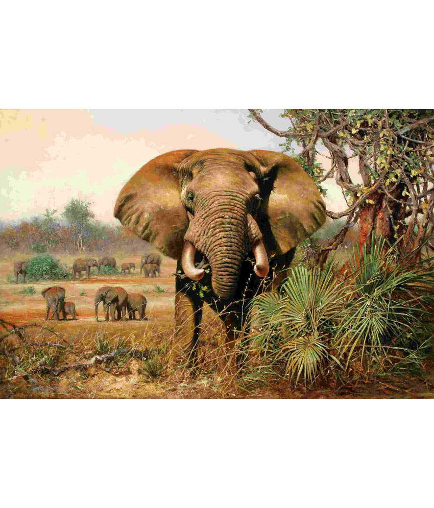 Elite Collection Digitally Printed Frameless Canvas Painting Animal-0007