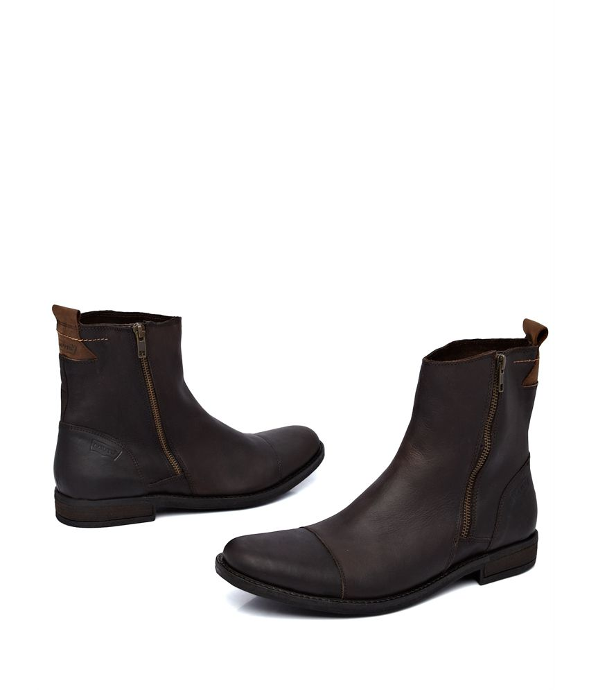 Levi's Dark Brown Basic Leather Boots