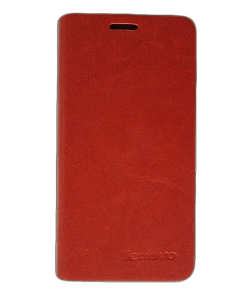 Mobitechno Flip Cover Back Case With Stand For Lenovo S860 - Brown