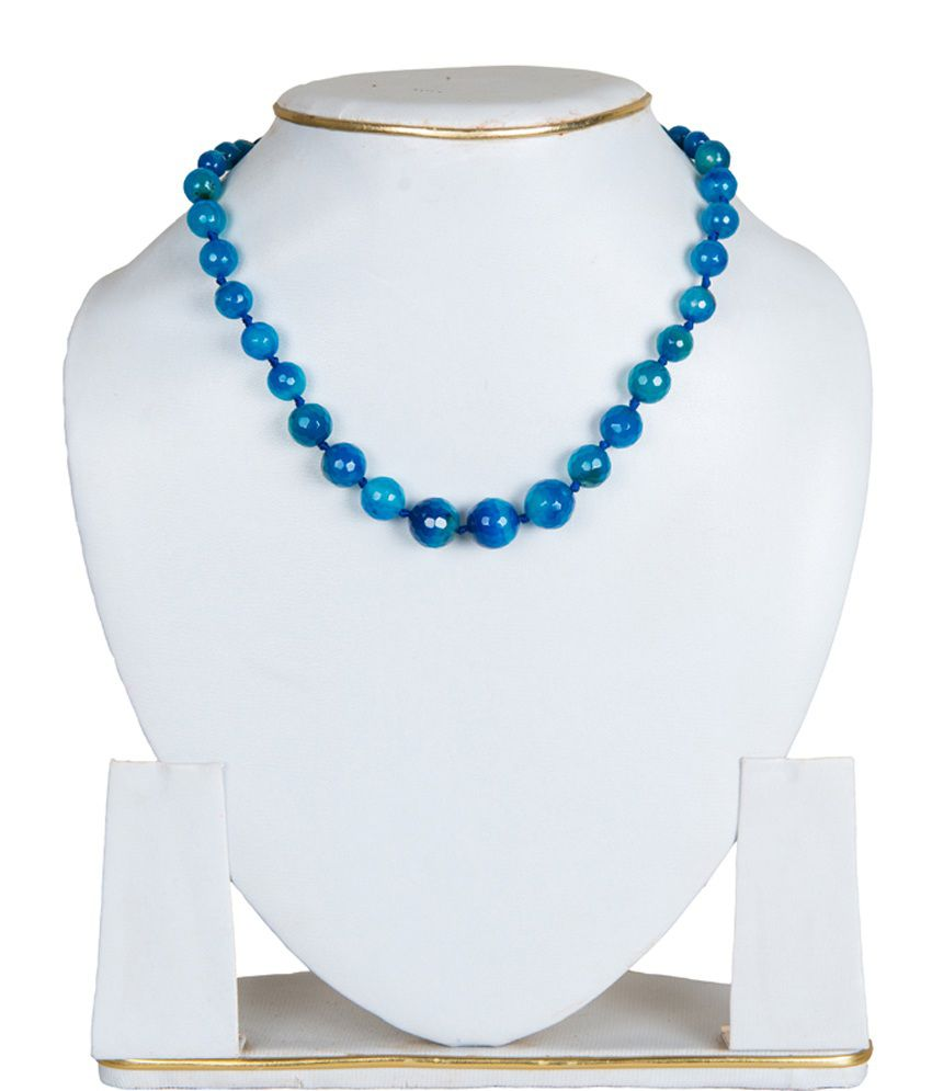 Taj Pearl Classy Blue Pure Onyx Necklace