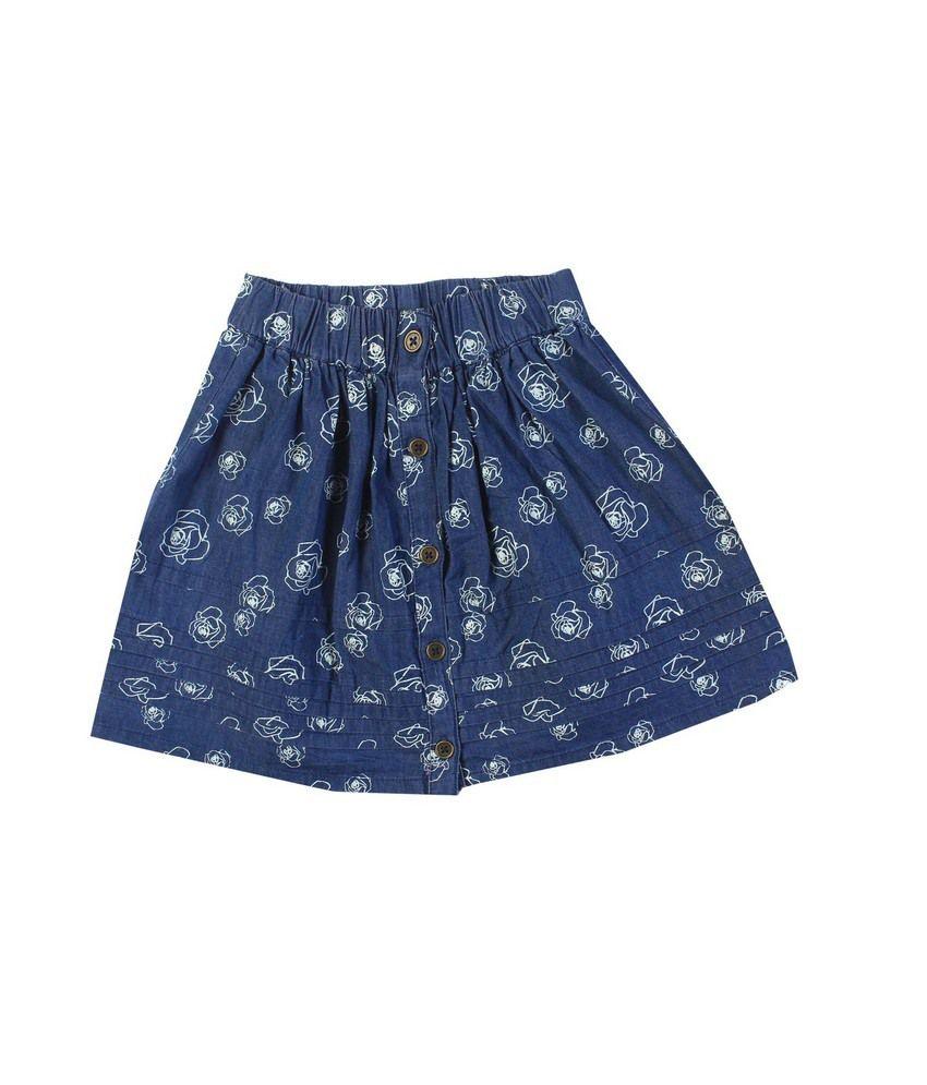 F S Mini Klub Dark Wash With Purple Tinting Skirt