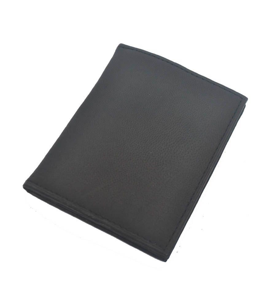 Modish Black Leather Card Holder