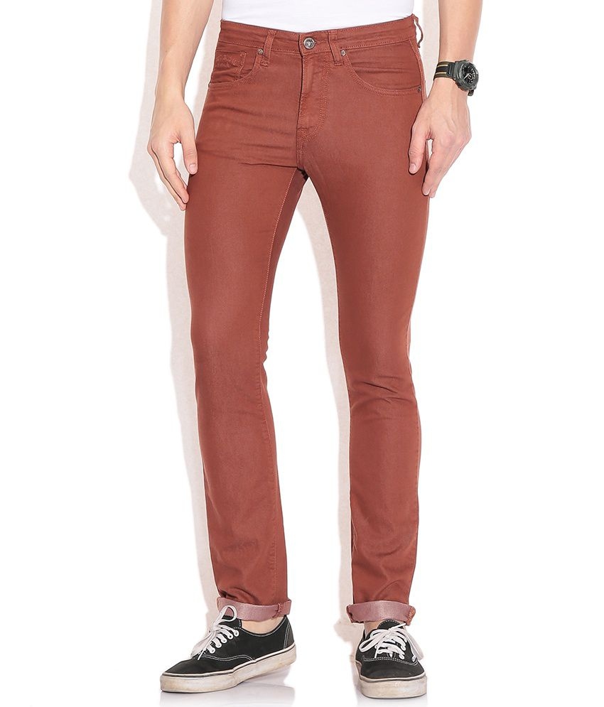 Pepe Jeans Red Skinny Jeans