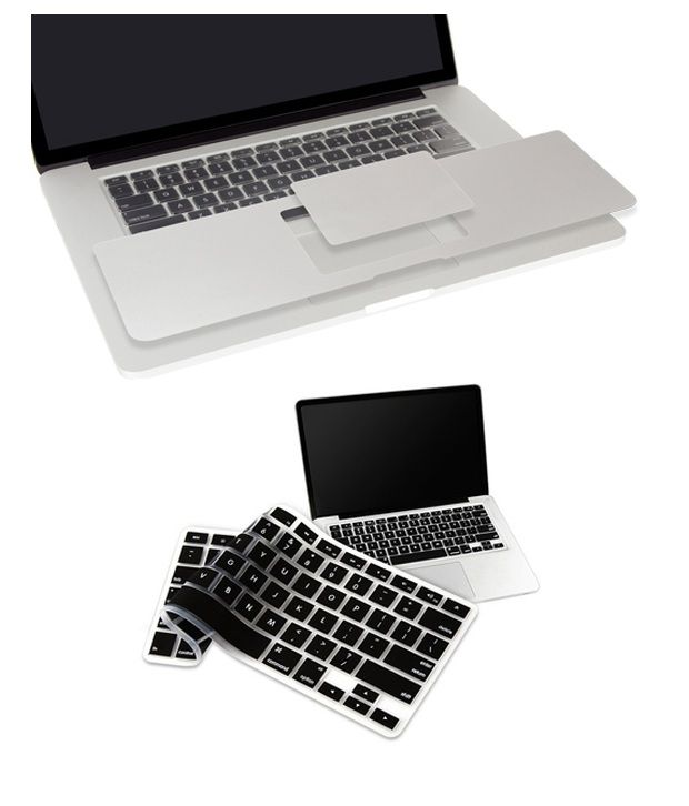 Pindia Apple MacBook Retina 13 13.3 Inch MGX92HN/A & MGX92LL/A Palm Guard with Black Keyboard Cover