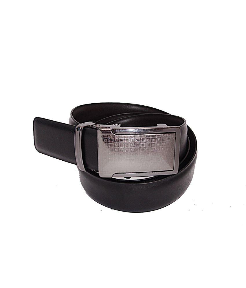 Sfa Silver Non Leather Formal Autolock Buckle Belt