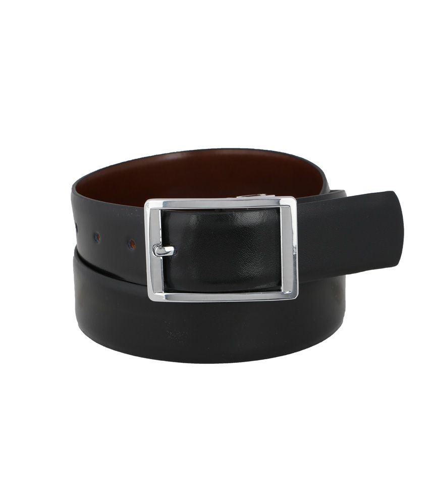 Vinson Massif Black Brown Vito Reversible Leather Belt